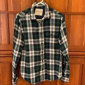 Aeropostale Men's Plaid Long Sleeve Shirt